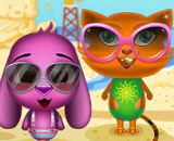 Toto And Sisi At The Beach - Pets Games