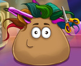 Pou Real Haircuts - Hair Games For Kids